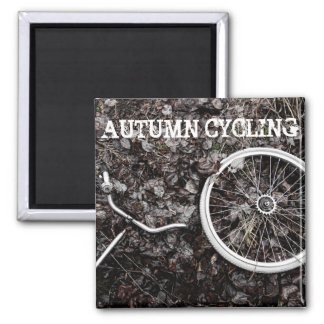 Autumn cycling magnet