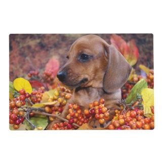 Autumn Dachshund Puppy Placemat
