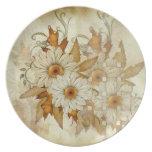 Autumn Daisy Plate