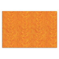 Autumn Damask Orange Tissue Paper
