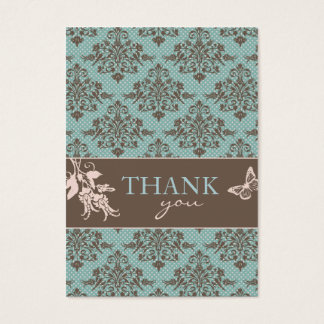 Autumn Damask TY Notecard C2 Business Card