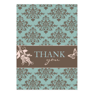 Autumn Damask TY Notecard C Large Business Card