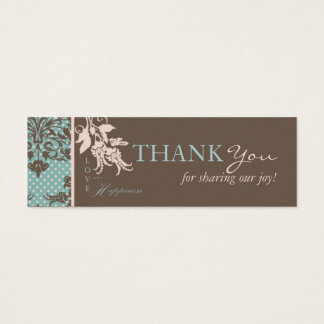 Autumn Damask TY Skinny Card 2