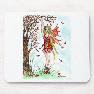 Autumn Dance Fairy Mouse Pads