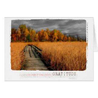 autumn day blank gratitude photography card