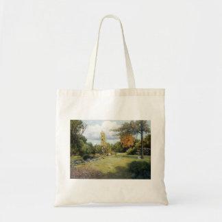 Autumn Days by Julian Alden Weir Tote Bags