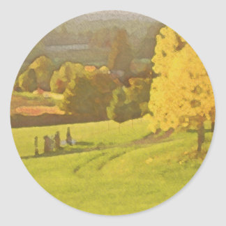 Autumn Days Classic Round Sticker