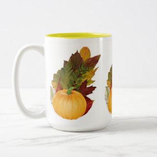 Autumn decor kitchen/dining room Two-Tone coffee mug