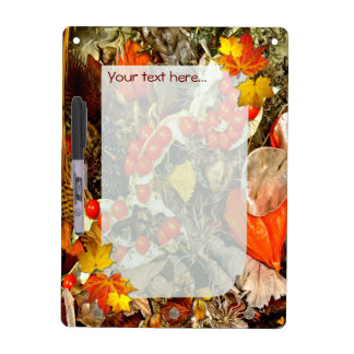Autumn Decorations  ~ Dry Erase Board With Hooks