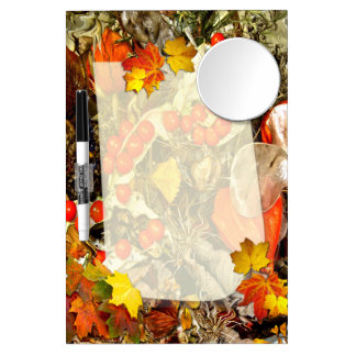 Autumn Decorations  ~ Dry Erase Board With Mirror