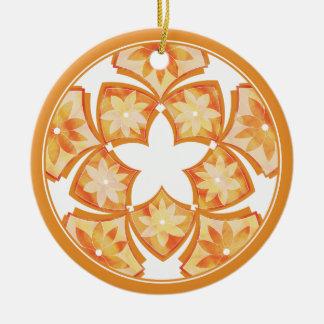 Autumn Decorative Floral Tiles Ornament
