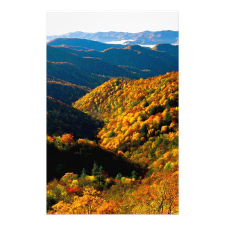 Autumn Deep Creek Valley Tennessee Stationery Paper