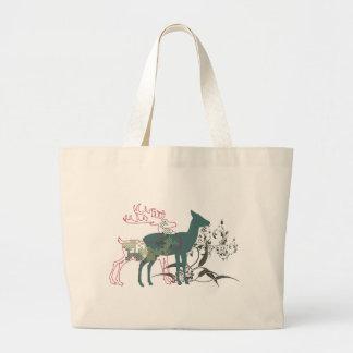 autumn deer canvas bag