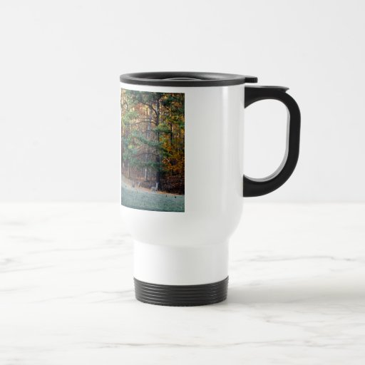 Autumn Deer in the distance 15 Oz Stainless Steel Travel Mug