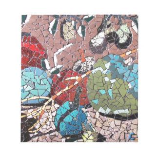 """""""Autumn Delight"""", mosaic artwork by C.-M. Buzamet Notepads"""
