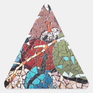 """Autumn Delight"", mosaic artwork by C.-M. Buzamet Triangle Sticker"