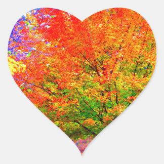 Autumn Delight - saturated Heart Sticker