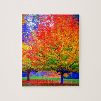 Autumn Delight - saturated Jigsaw Puzzle
