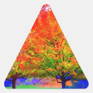 Autumn Delight - saturated Triangle Sticker
