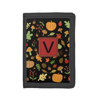 Autumn Design #2 Monogrammable Tri-fold Wallet