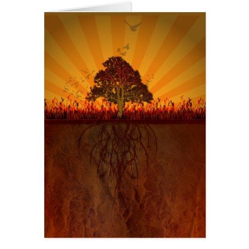 autumn design greeting card