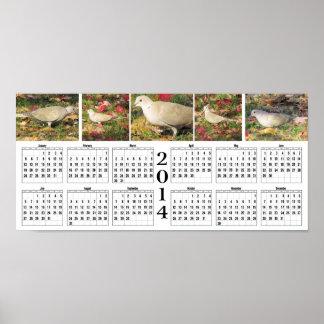 Autumn Dove 2014 Calendar Poster