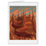 Autumn dragon greeting card