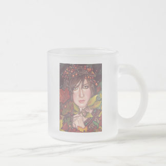 Autumn Dream Frosted Glass Coffee Mug