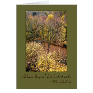 'Autumn Dreams' Quotables Blank Greeting Card