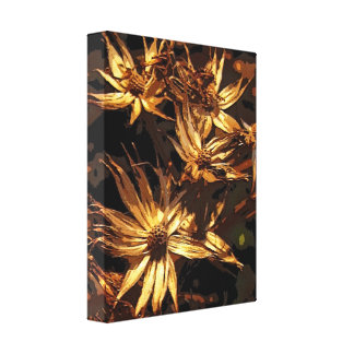 Autumn Dried Flowers Abstract Canvas Print