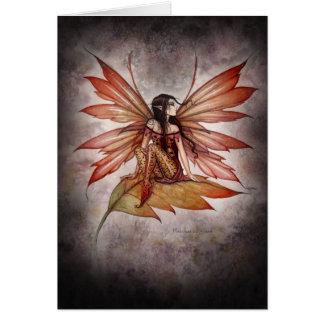 Autumn Drifting Gothic Fairy Fantasy Art Card
