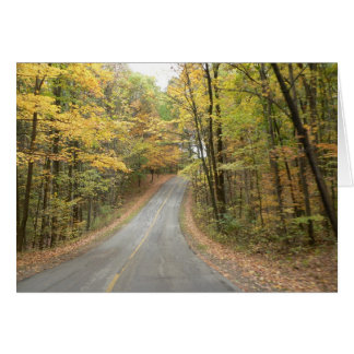 Autumn Drive Notecard Stationery Note Card