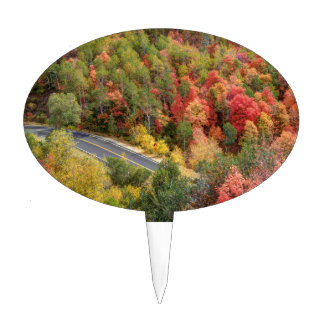 Autumn Drive Through East Canyon -road Cake Topper