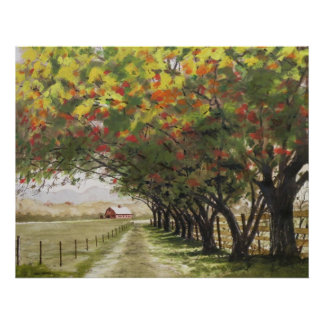 Autumn driveway poster