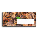 Autumn Dry Leaves and Green Clovers Envelopes
