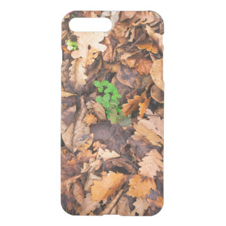 Autumn Dry Leaves and Green Clovers iPhone 8 Plus/7 Plus Case