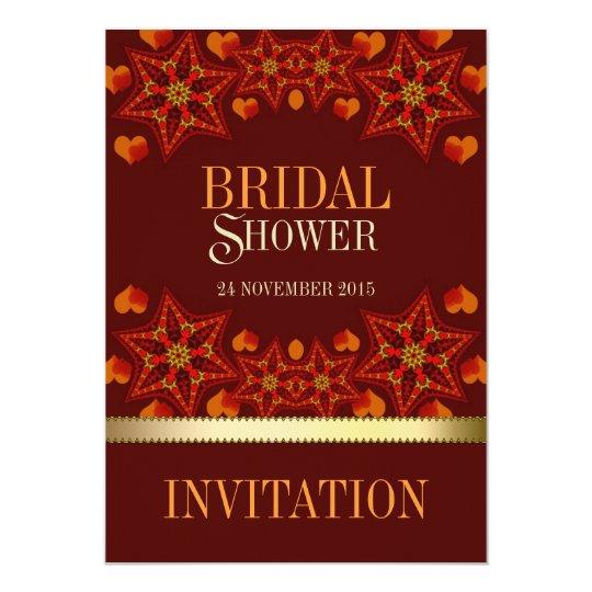 Autumn Earth Love Bridal Shower Invitations