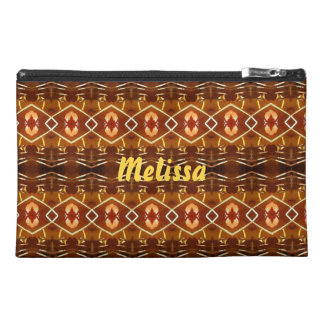 Autumn Earth Tones in a Tribal Pattern Design Travel Accessories Bags