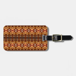 Autumn Earth Tones in a Tribal Pattern Design Bag Tag