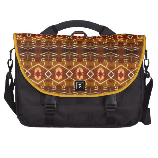 Autumn Earth Tones in a Tribal Pattern Design Laptop Bag