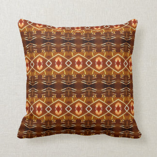 Autumn Earth Tones in a Tribal Pattern Design Throw Pillow