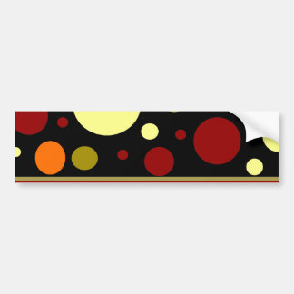 Autumn Earth Tones Stripes Polka Dots Pattern Bumper Sticker