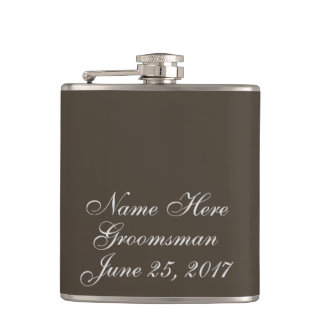 Autumn Earth Wedding Gift Hip Flask
