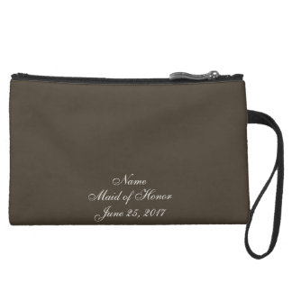 Autumn Earth Wedding Suede Wristlet