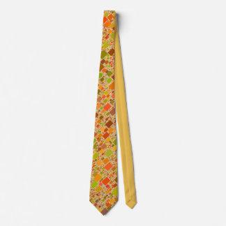 Autumn Echo Tiled Artwork Design Tie