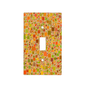 Autumn Echo Tiled Design Switch Plate Covers