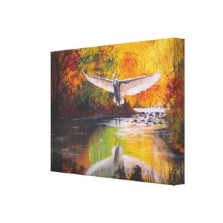 Autumn Egret Canvas Print