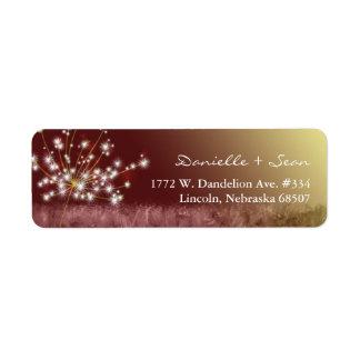 Autumn Elegance Dandelion Wedding Label