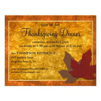 Autumn Elegance Thanksgiving Invite