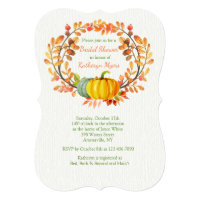 Autumn Elements Invitation